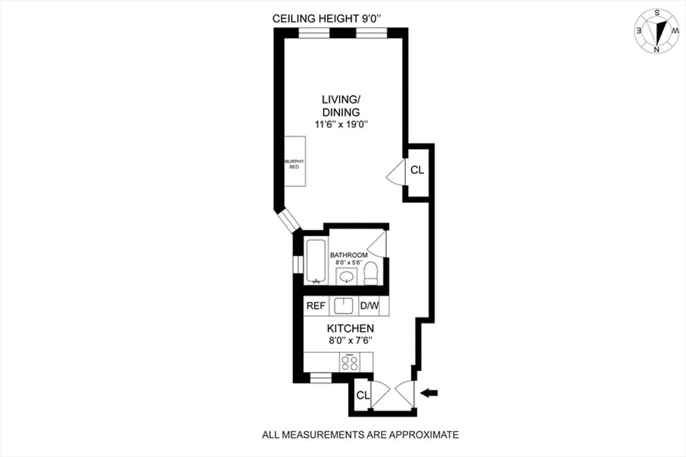 New York City Real Estate | View West 43rd Street | Floorplan 2
