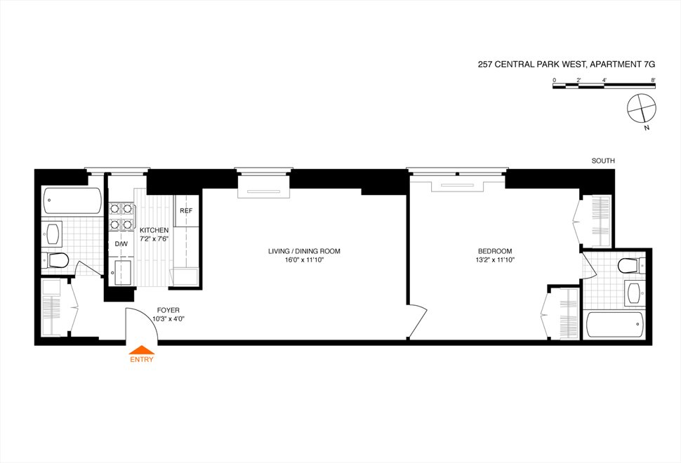 New York City Real Estate | View 257 Central Park West, #7G | Floorplan