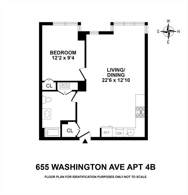 New York City Real Estate | View 655 Washington Avenue, #4B | Floorplan