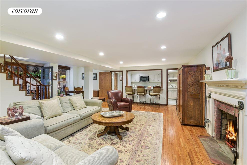 Oversized Living Room  w/ WBF  Leads to Garden