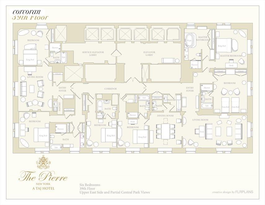 New York City Real Estate | View 795 Fifth Avenue, #39 | Floorplan