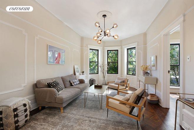 Beautiful 2333 Foster Avenue, Parlor Duplex Living Room