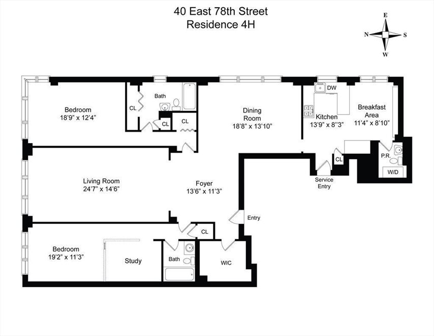 New York City Real Estate | View East 78th Street | Floorplan