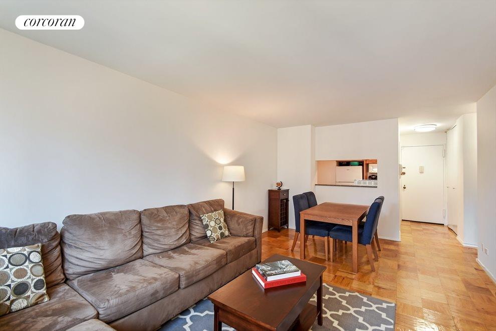 New York City Real Estate | View 245 East 54th Street, #21B | Only Floor Plan with Designated Dining Area