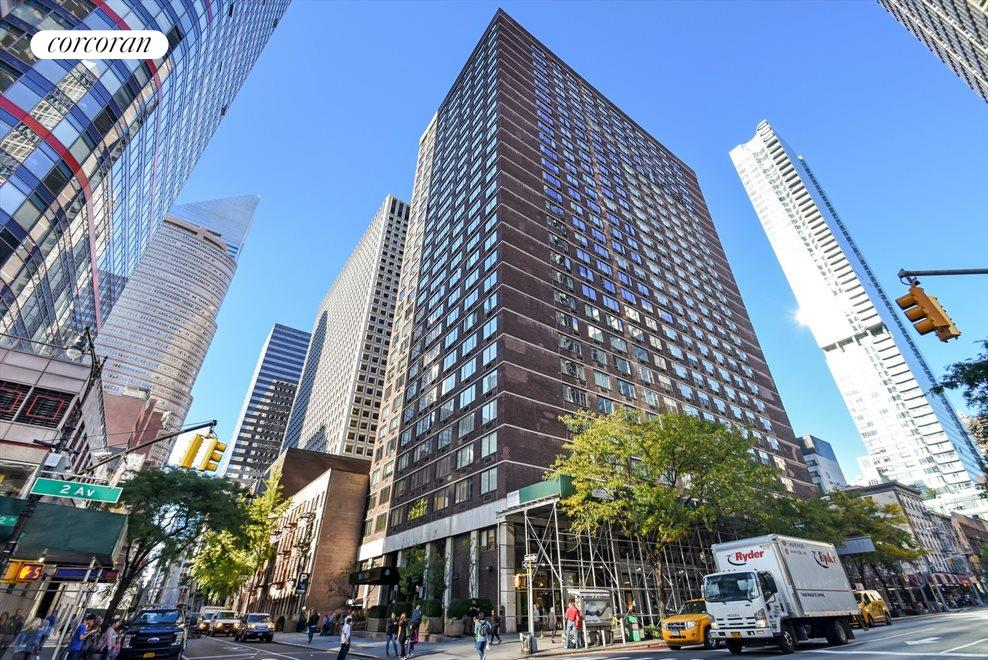New York City Real Estate | View 245 East 54th Street, #21B | Recently Renovated Lobby, Hallways And Elevators