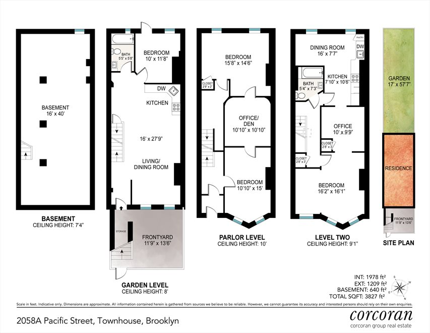 New York City Real Estate | View 2058A Pacific Street | Floorplan