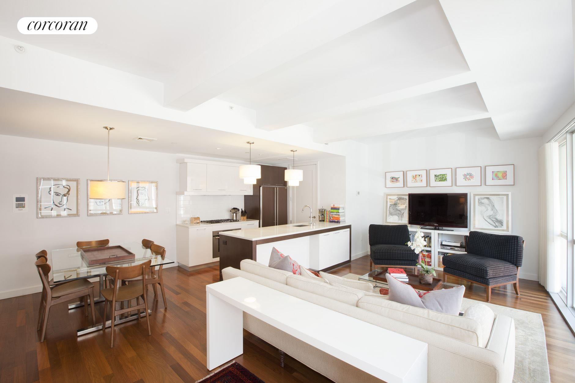 125 North 10th Street, N2B, Open Kitchen Floor Plan