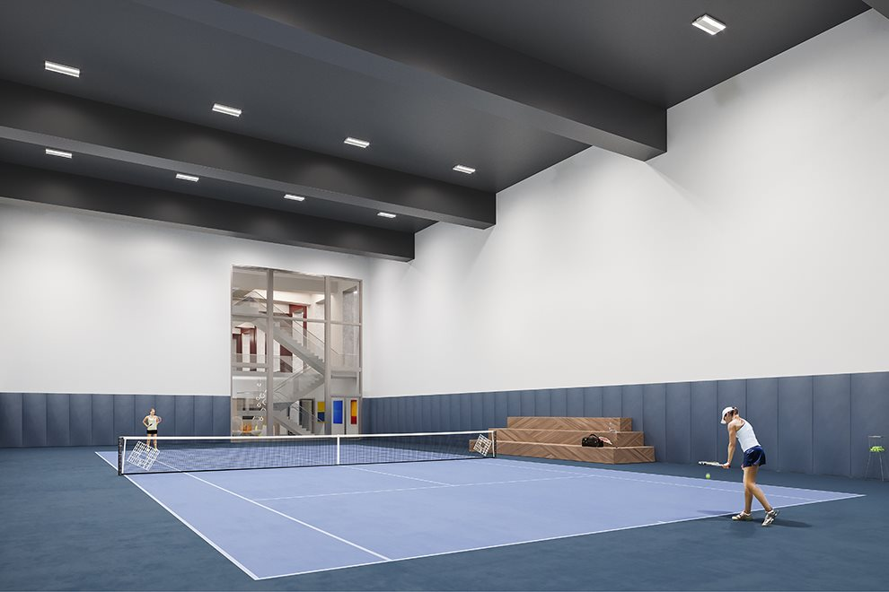 Private Indoor Tennis Court
