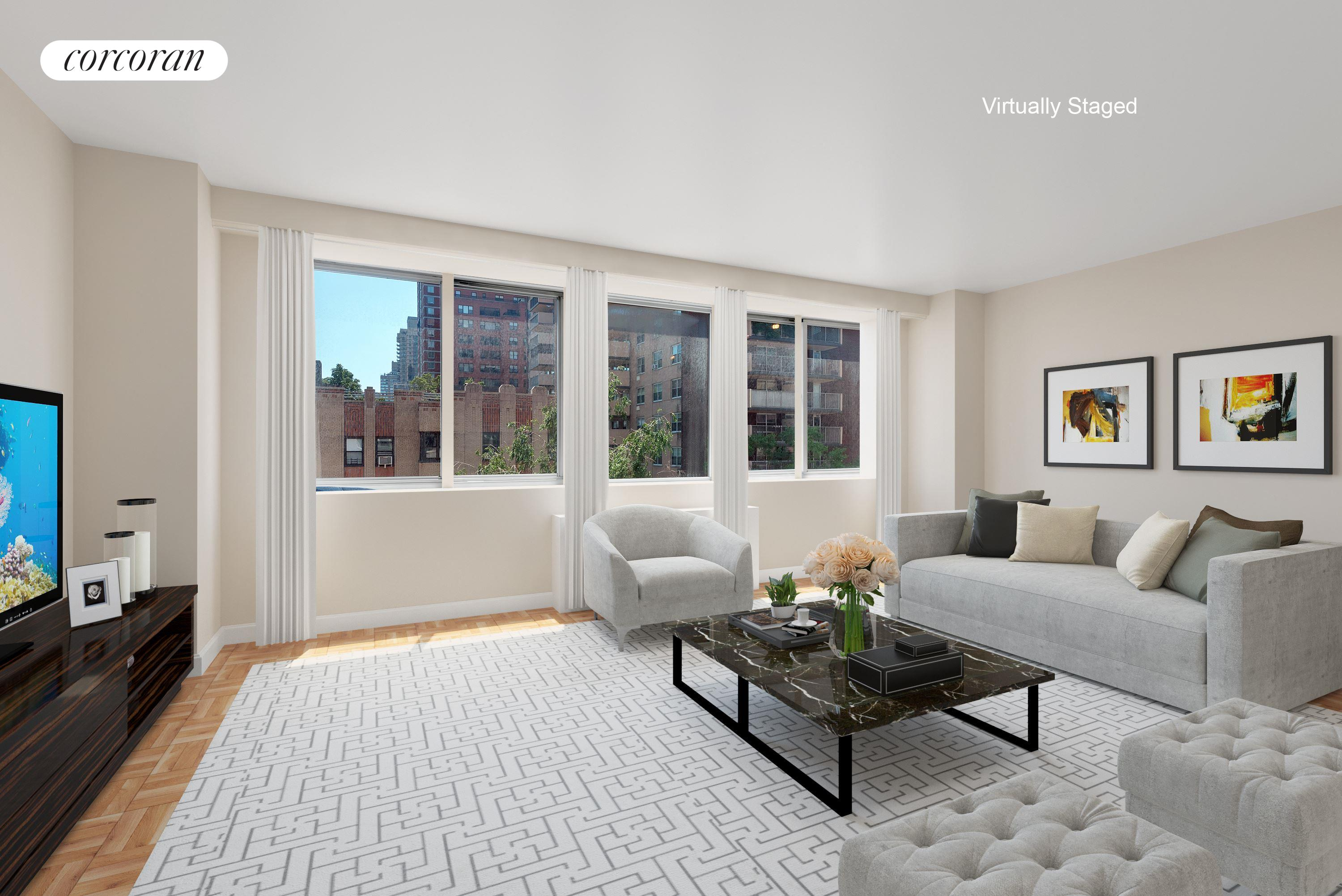 401 East 86th Street, 7C, Spacious and Sunny Living Room