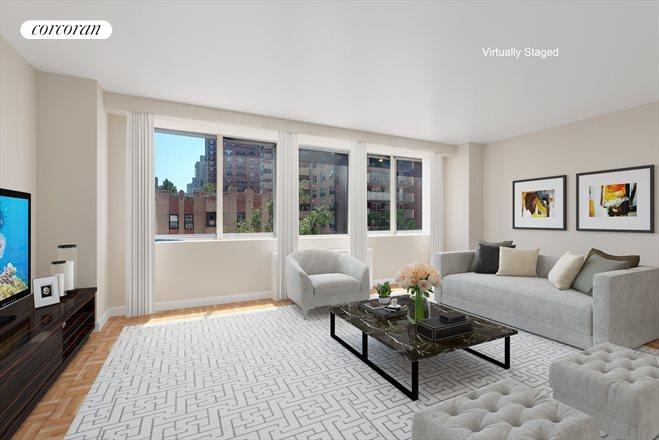 401 east 86th street 7c spacious and sunny living room - Living Room 86th Street