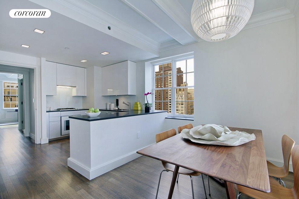 Windowed, eat-in kitchen designed by Piero Lissoni