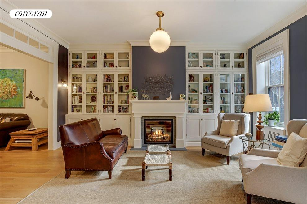 Triple Parlor with Gas Fireplace