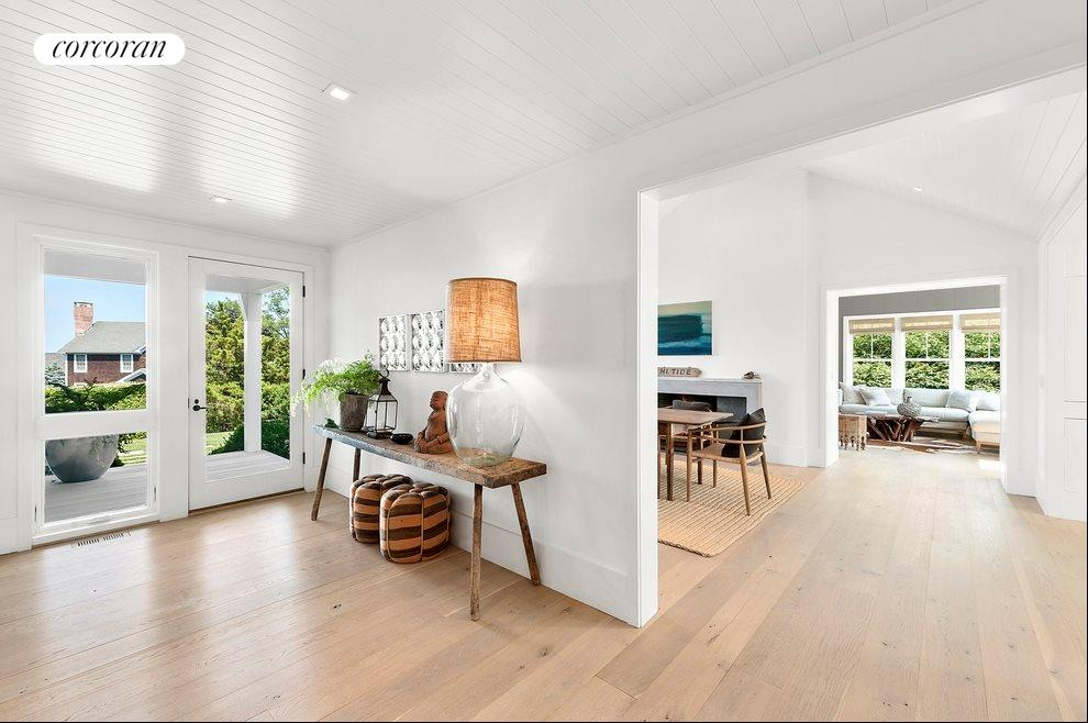 Entry foyer leads to bright and airy open floor plan