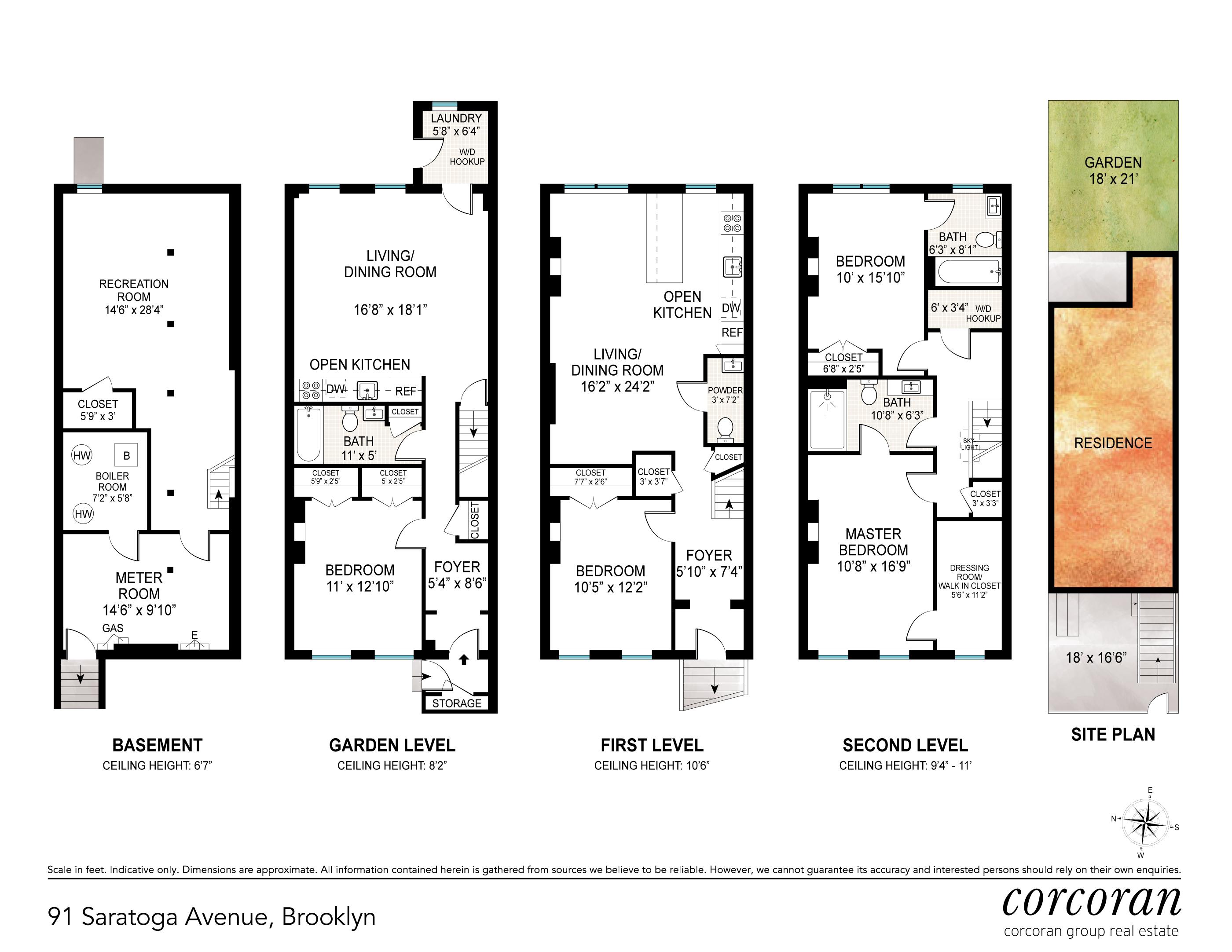 Floor plan of 91 Saratoga Avenue - Bedford - Stuyvesant, New York