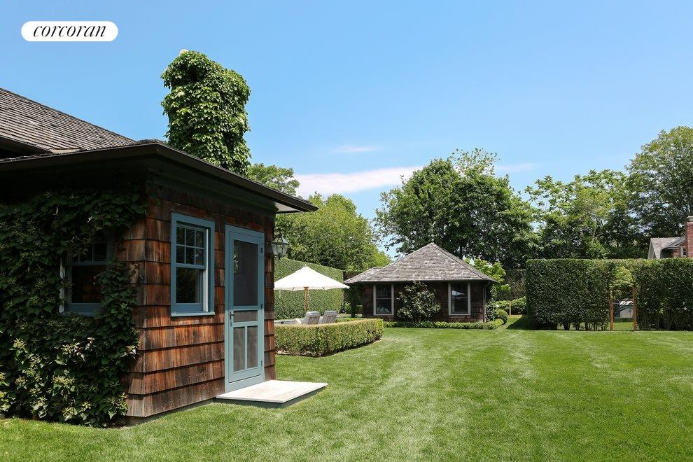 New York City Real Estate | View 137/143 Halsey Lane | View of the compound with main house to left and pool house in background