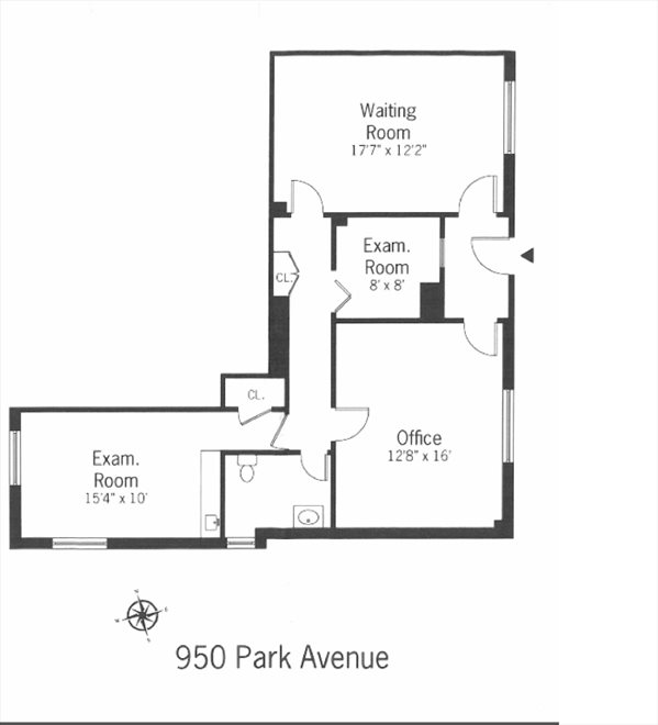 New York City Real Estate | View 950 Park Avenue, #1A | Floorplan