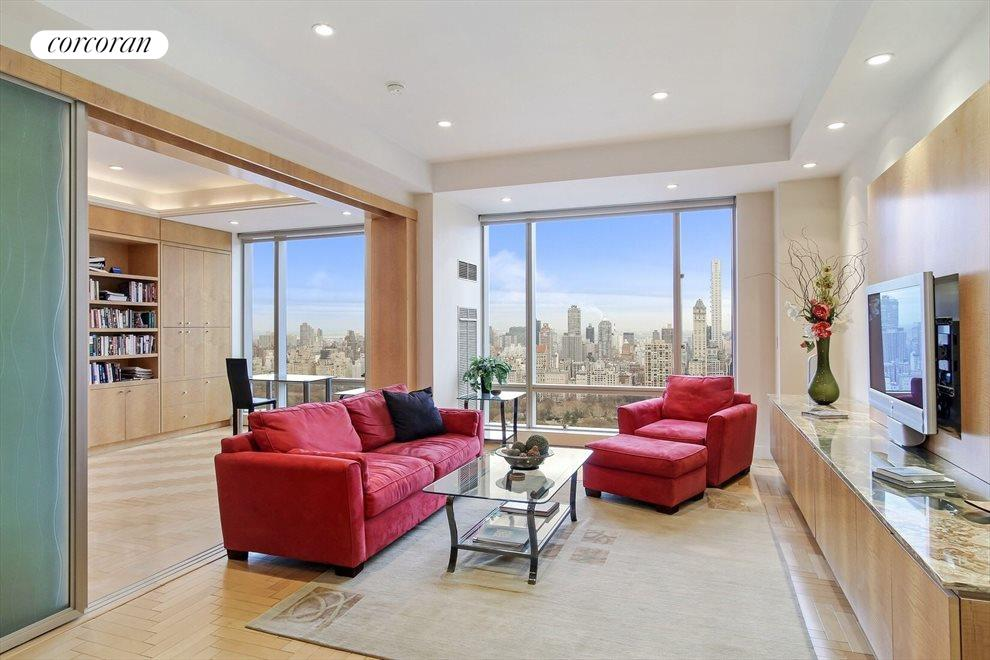 Oversized Living Room with Central Park Views