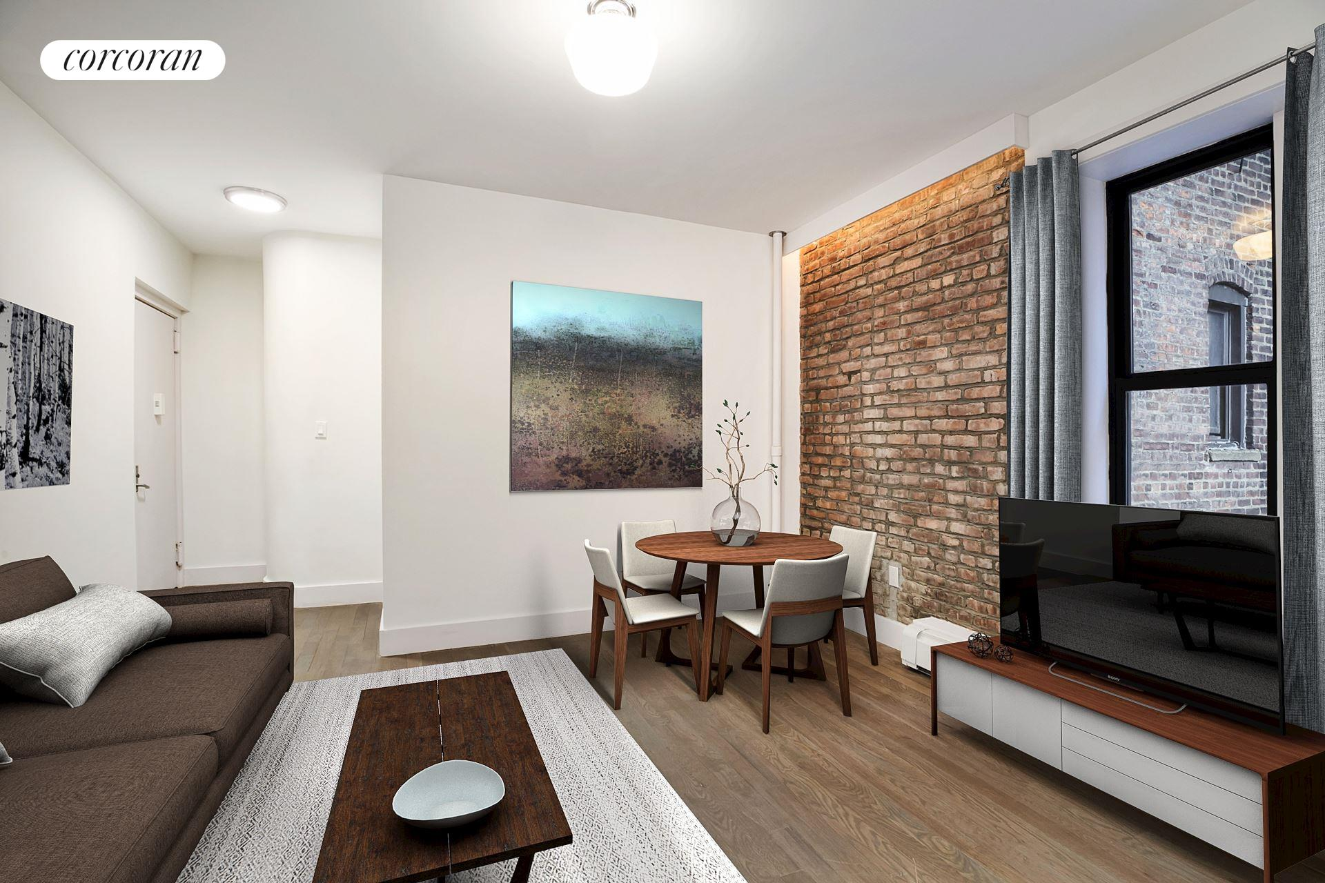 48 West 138th Street, 1h, Living Room