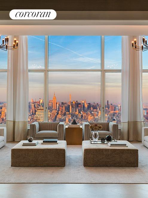 New York City Real Estate | View 30 PARK PLACE, #PH82 | Living Room - Daytime