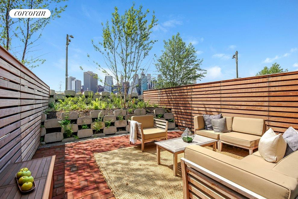 New York City Real Estate | View 130 Furman Street, #S111 | Private Outdoor Garden