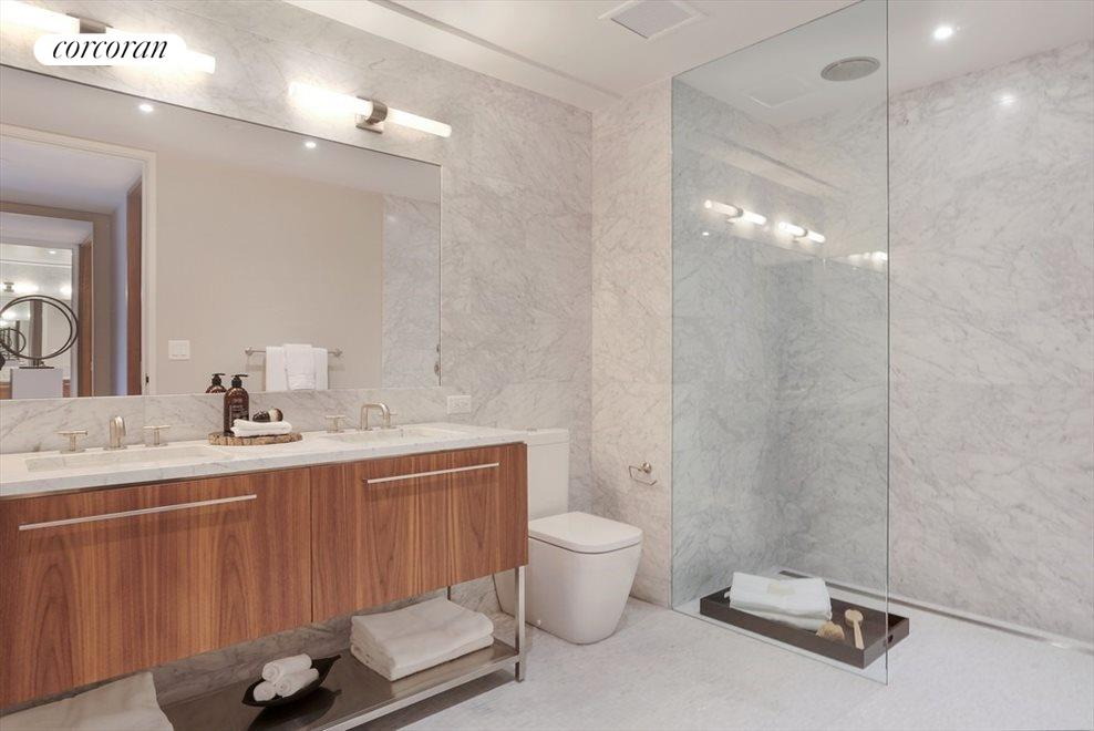 New York City Real Estate | View 130 Furman Street, #S111 | Master Bath