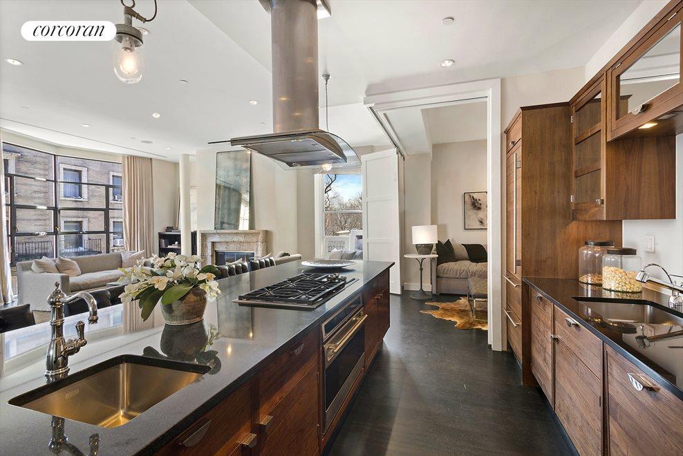Custom Smallbone kitchen w/ views to Wash Sq Park