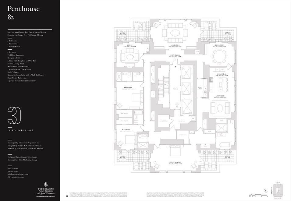 New York City Real Estate | View 30 PARK PLACE, #PH82 | Floorplan
