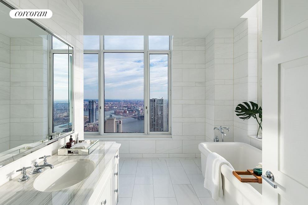 New York City Real Estate | View 30 PARK PLACE, #PH82 | Master Bathroom