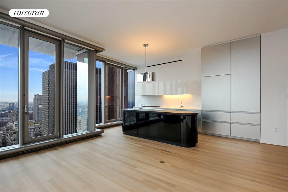 New York City Real Estate | View 56 LEONARD ST, #34A EAST | Open Kitchen with Expandable Breakfast Bar