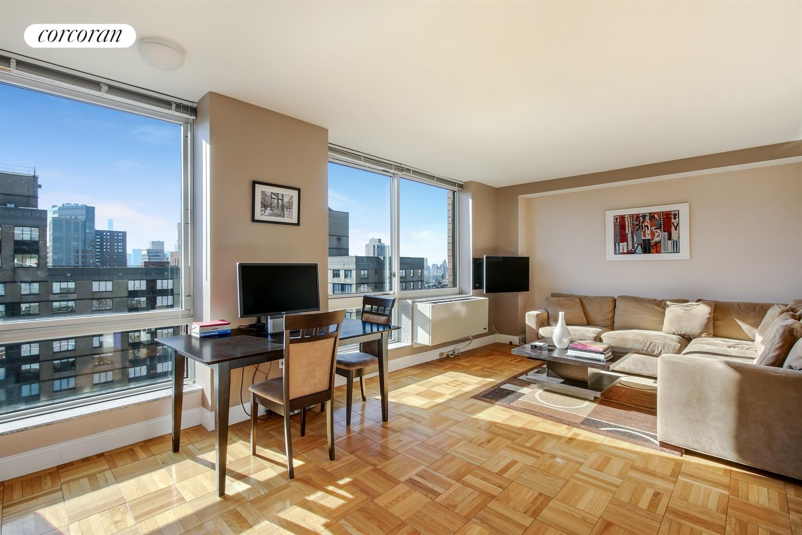 215 East 96th Street, 36D, Living Room / Dining Room