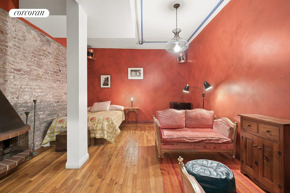 Exposed brick, high ceilings and space for days