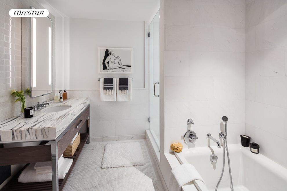 Master Bath with custom double vanity