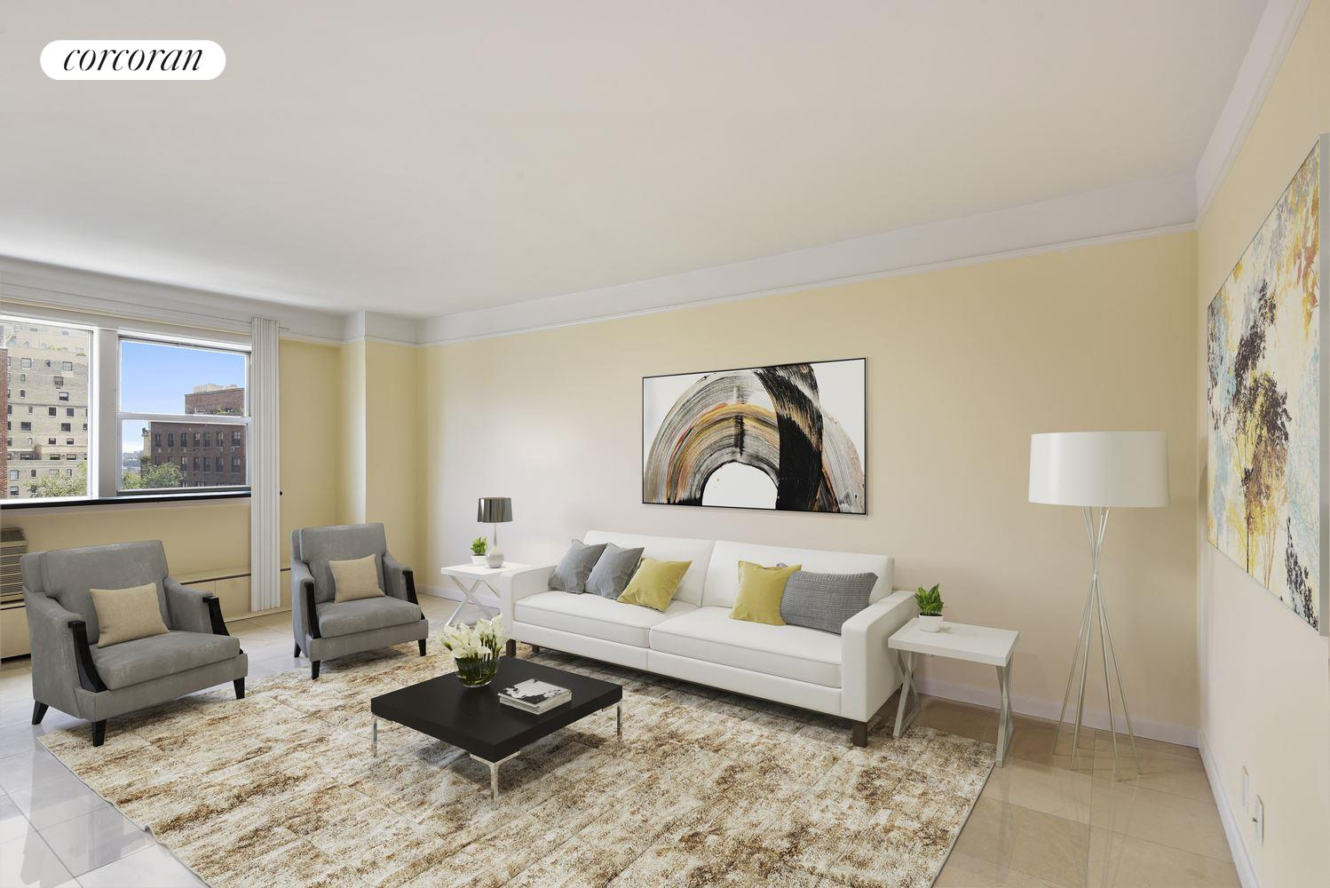 446 East 86th Street, 12D, Living Room