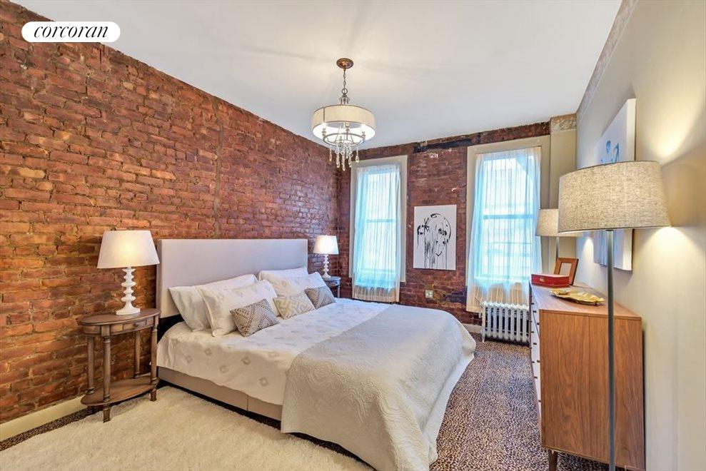 Lovely prewar details exposed double brick wall