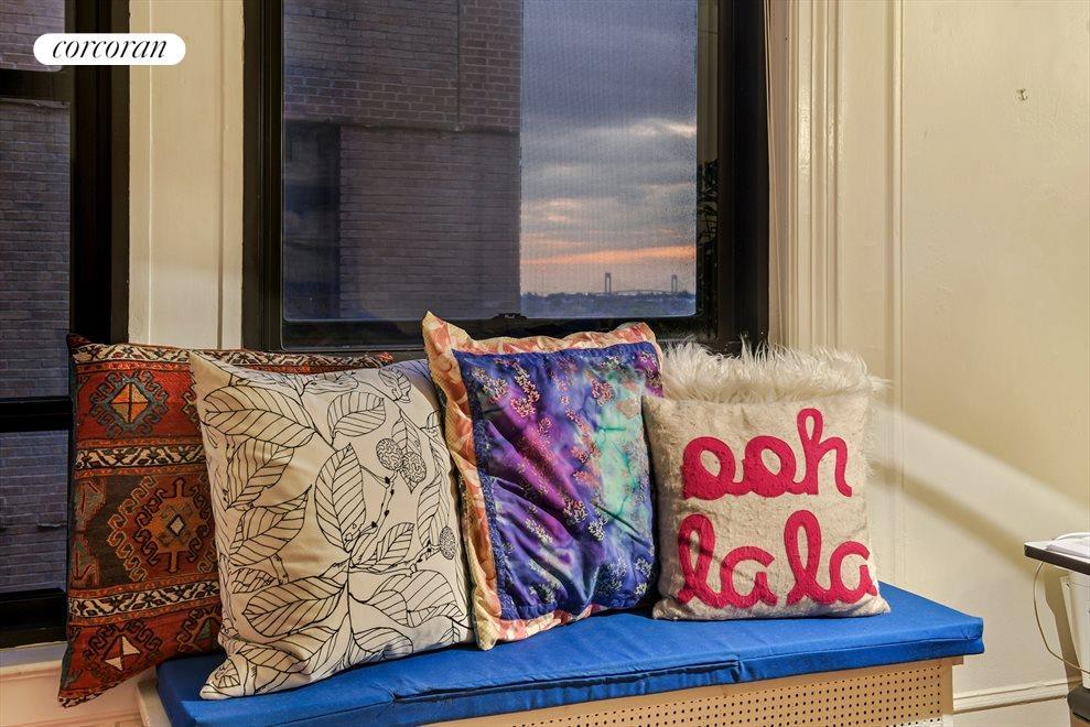 Cozy window seat...