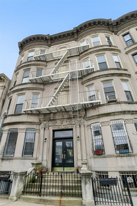 New York City Real Estate | View 180 Sterling Place, #6 | 16-unit prewar condo building with bay windows