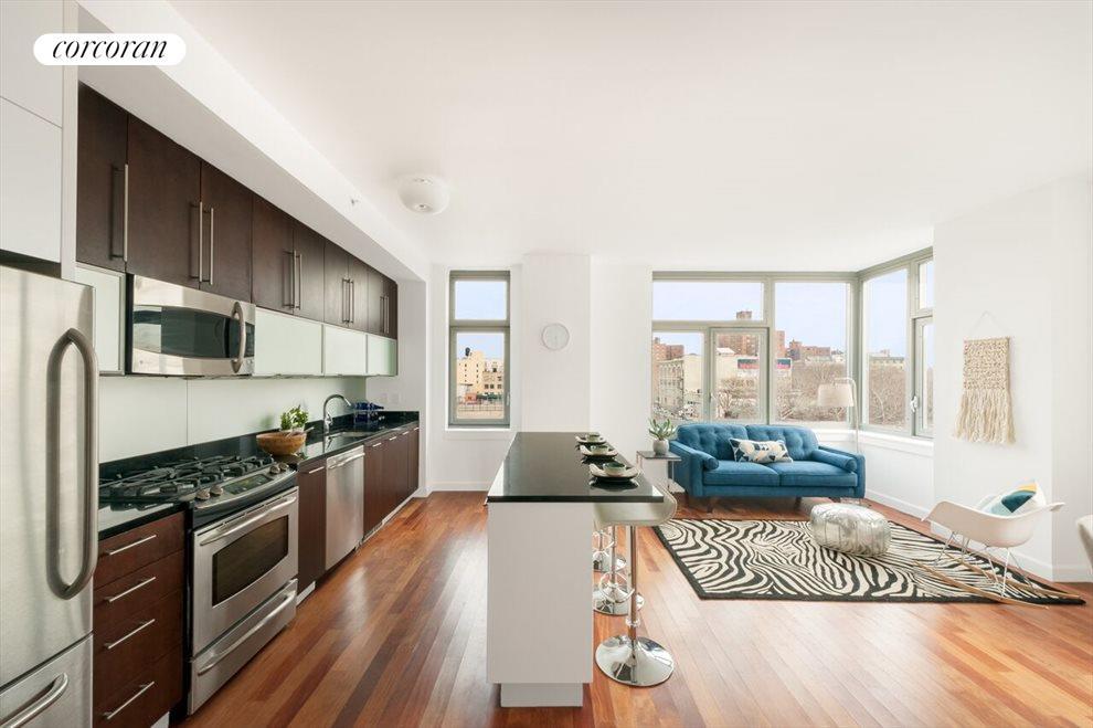 Light Bathed  Open  Living Floor Plan