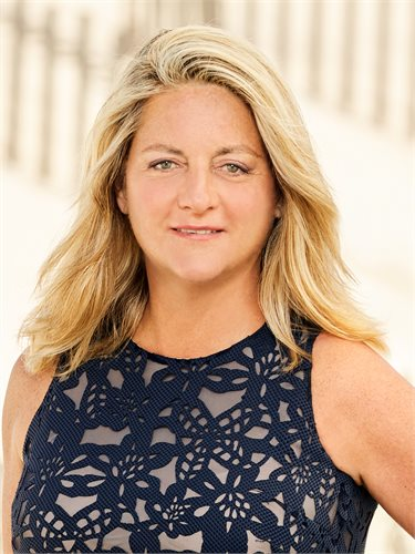 Sandy Beuerlein, a top realtor in The Hamptons for Corcoran, a real estate firm in Westhampton Beach.