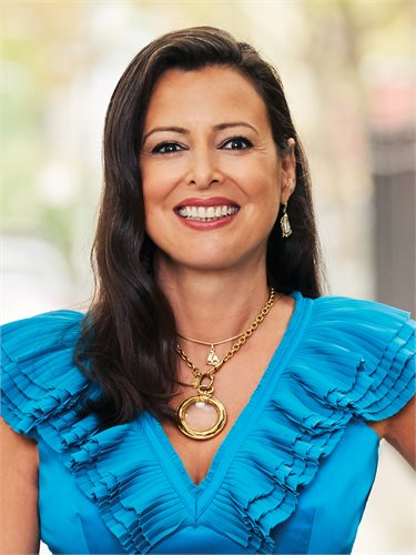Amalia Daskalakis, a top realtor in New York City for Corcoran, a real estate firm in SoHo.