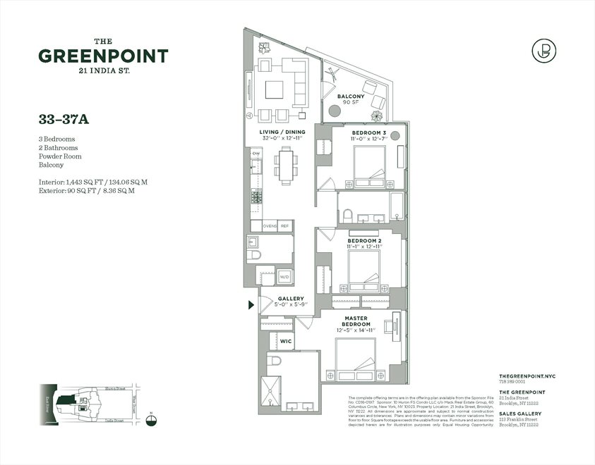 New York City Real Estate | View 21 India Street, #33A | Floorplan