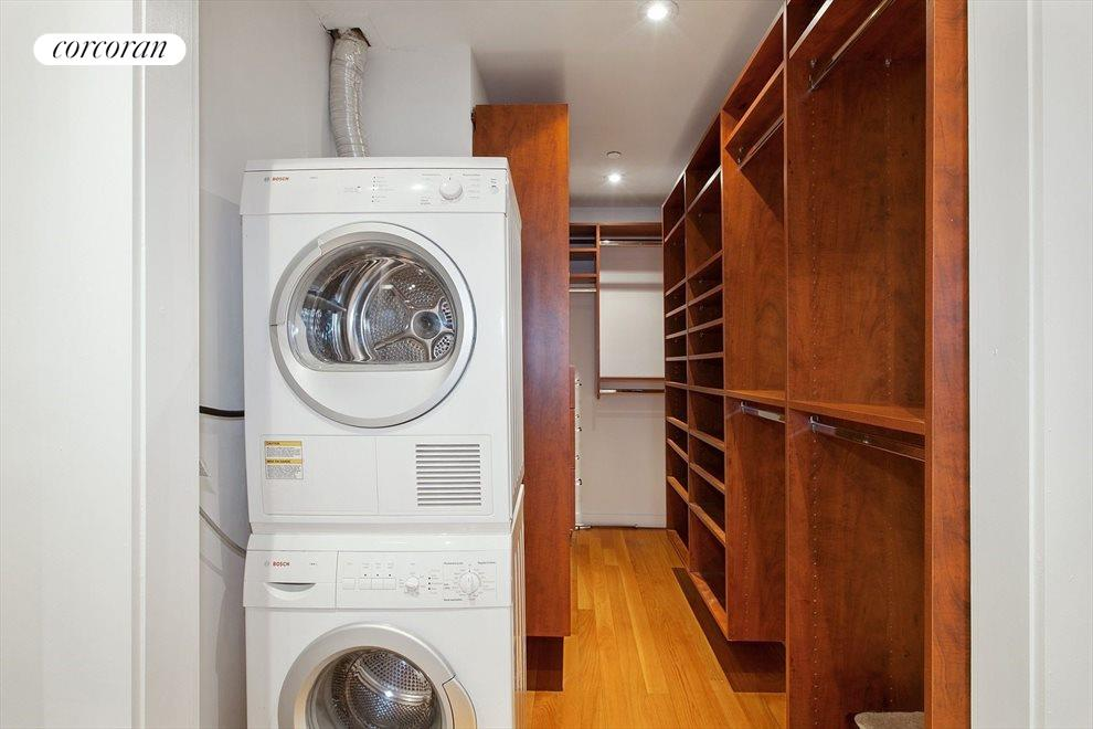 Walk-In-Closet with Vented Washer and Dryer