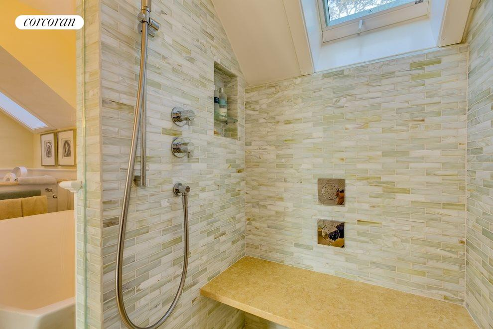 New Master Bath Shower with Rain and Waterfall Spout
