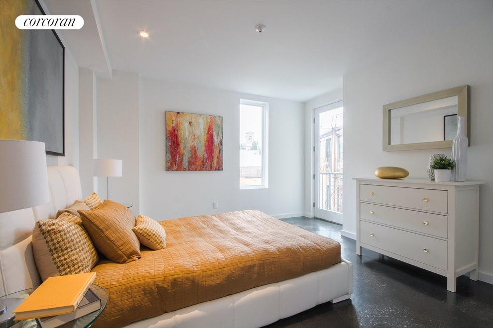 Master suite with Juliet balcony and bathroom