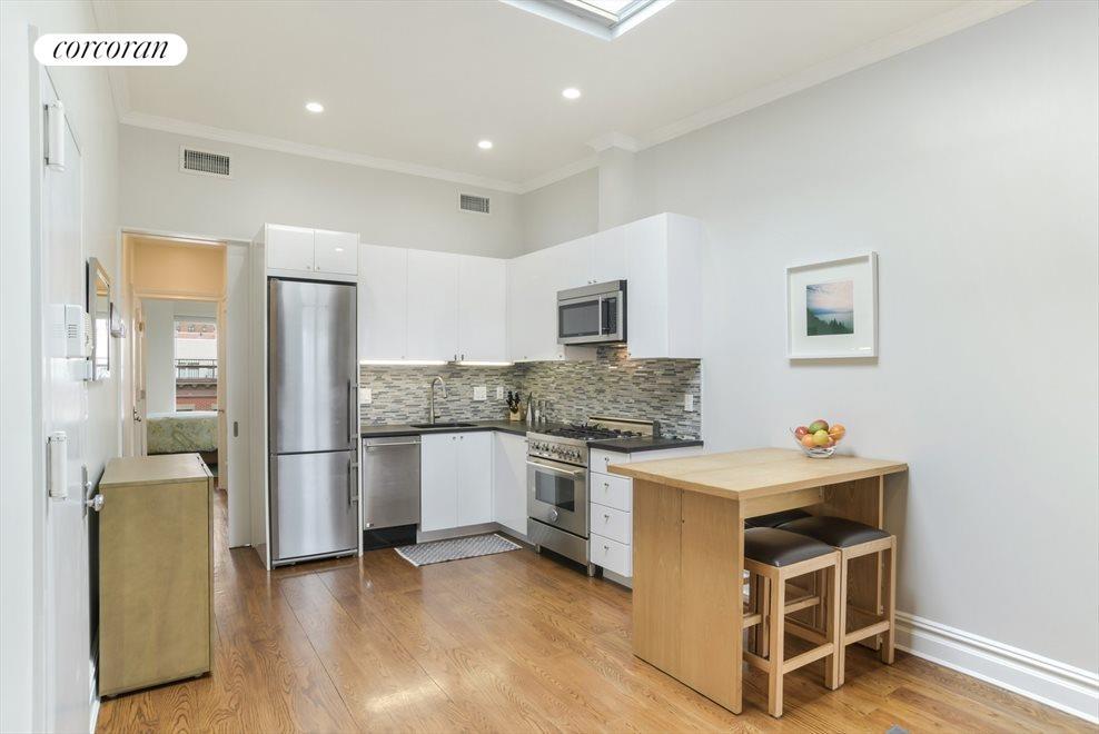 Mint kitchen w/ Bertazzoni range & Liebherr fridge