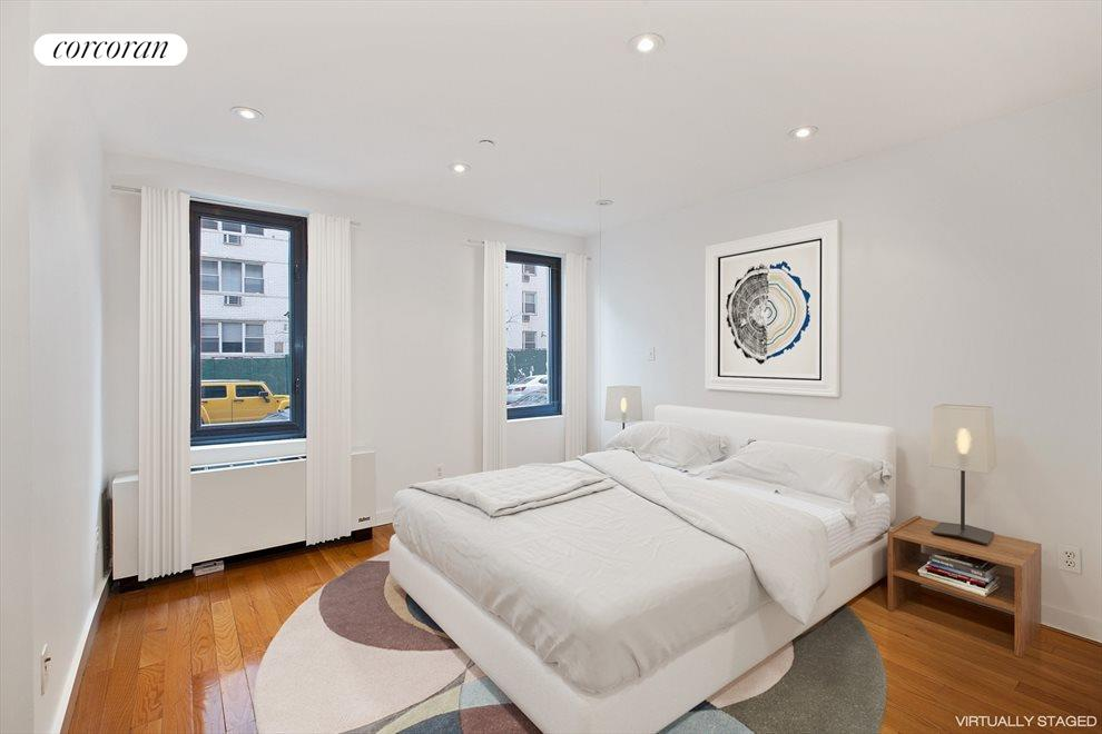 Bright Bedroom Fits King-Sized Bed