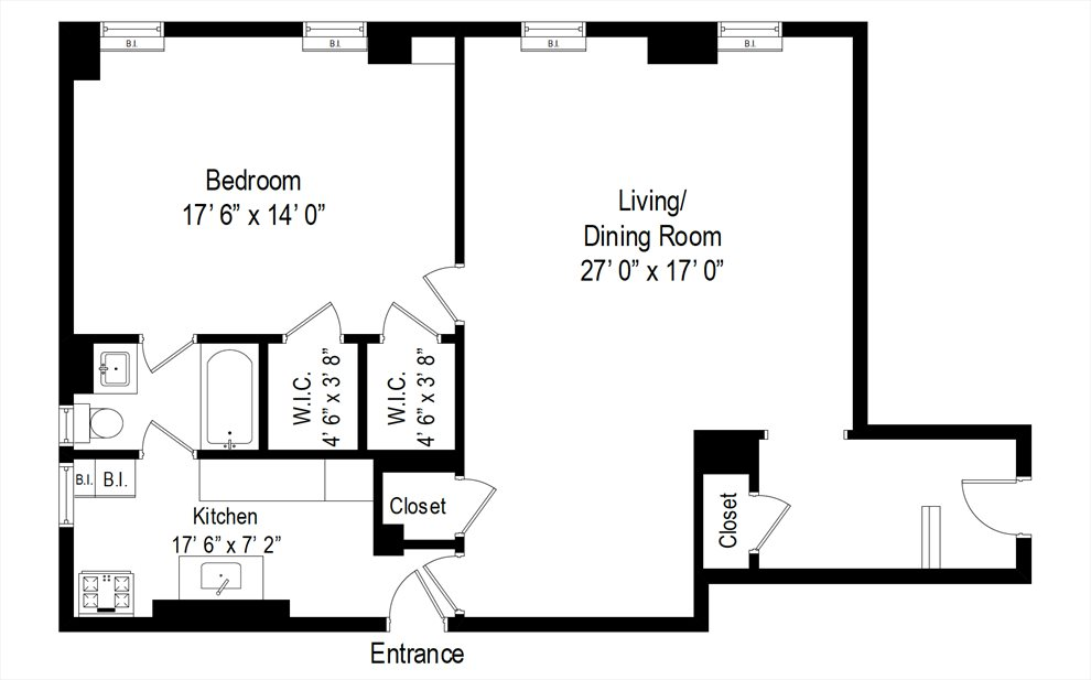 New York City Real Estate | View 130 East End Avenue, #1B | Floorplan