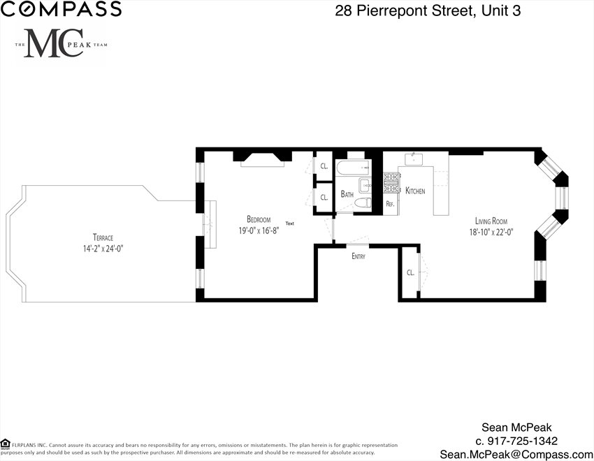 New York City Real Estate | View Pierrepont Street #3 | Floorplan 1