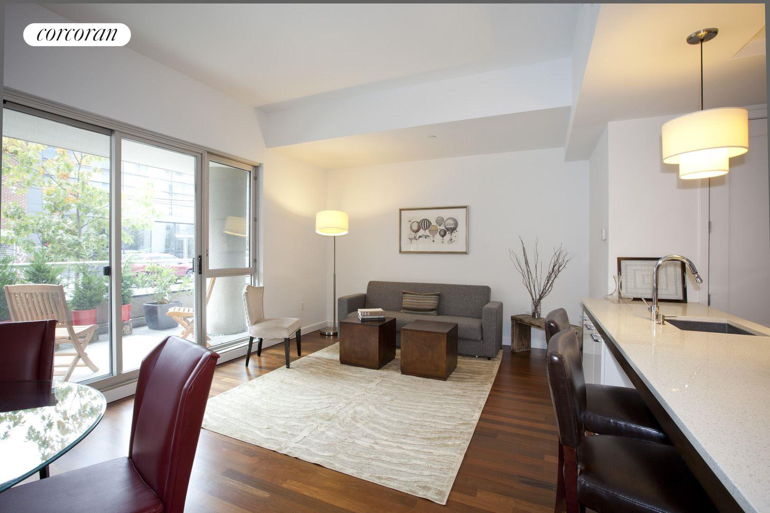 125 North 10th Street, SGE, Large Living Room with Dining Area