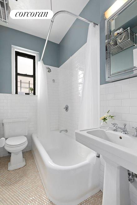 Classic and newly tiled and painted