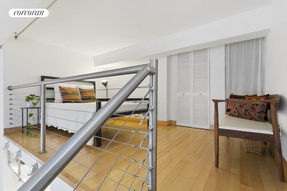 2nd sleep area in loft above kitchen